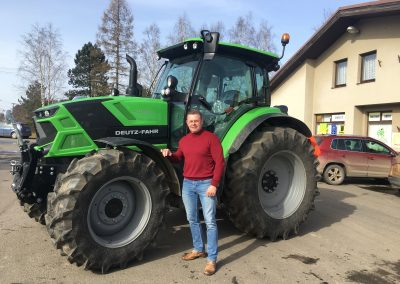 19.2. 021 jsem předali nový traktor Deutz Fahr 6130 TTV našemu dlouholetému zákazníkovi, obci Jedlová u Poličky.